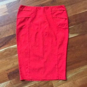 Charlotte Russe Stretchy Red Pencil Skirt